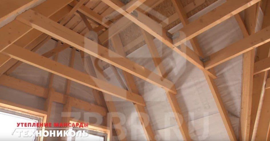 Утепление крыши пристройки