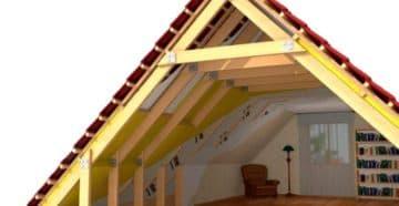 Двускатная мансардная крыша в разрезе