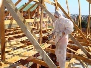 Обработка бруса для крыши
