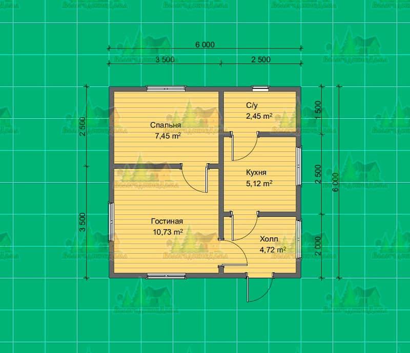 План №9-БДО(6,0х6,0)