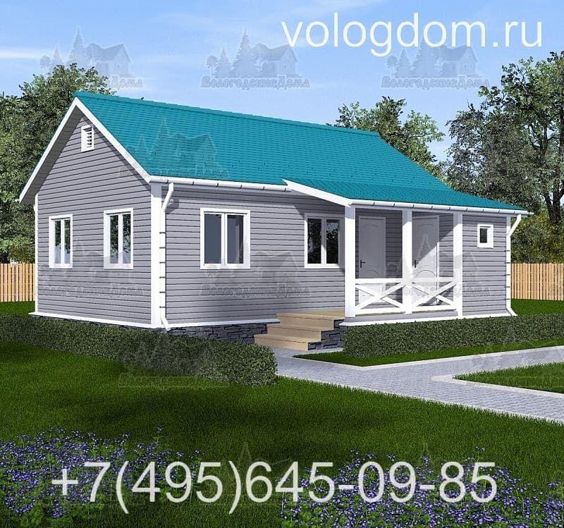 каркасный дом 9 на 9 м: таунхаус для семьи