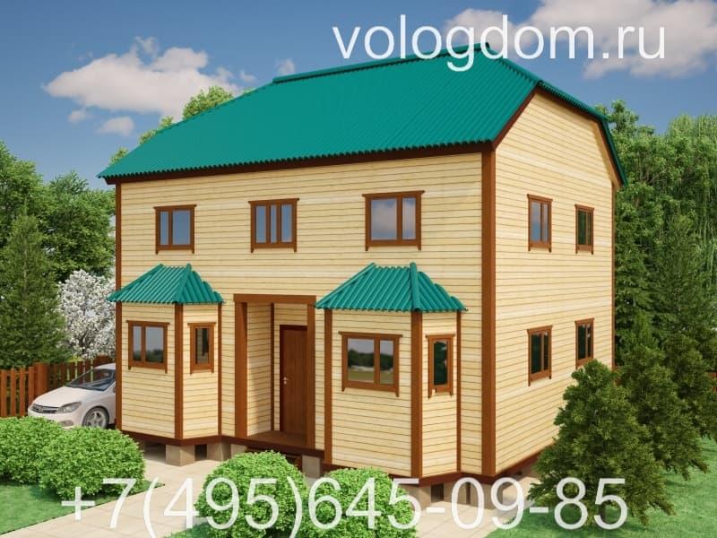 каркасный дом 9 на 9 с вальмовой кровлей