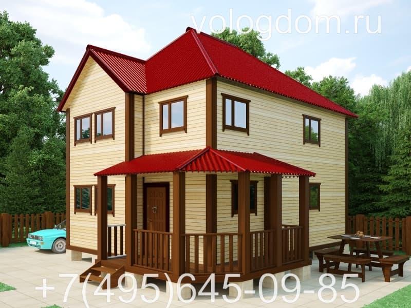 дом 9 на 9 с полувальмовой кровлей: макет