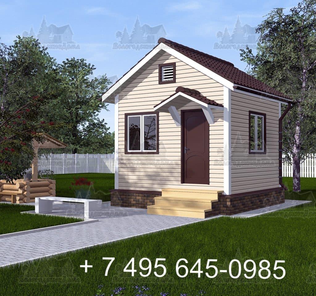 Садовый каркасный дом 4 на 4 м