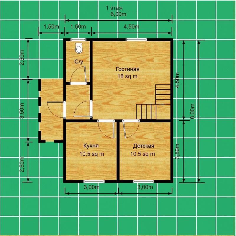 Проекты каркасных домов
