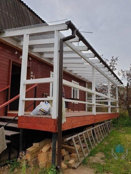Отделка веранды на даче