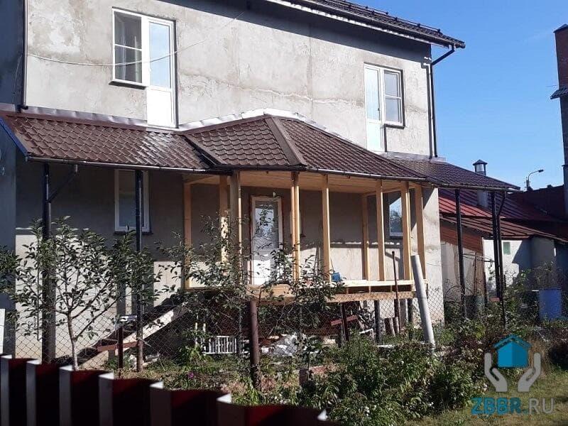 Беседка с односкатной крышей как пристройка своими руками к дачному дому: фото