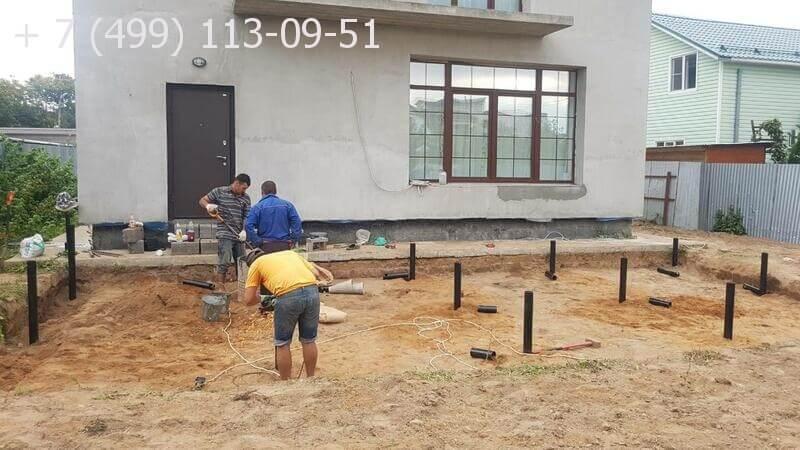 Строительство пристройки к дому из дерева