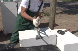 Перенос блоков своими руками, захватом для газобетонных блоков
