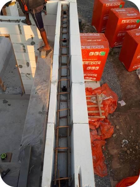 Армопояс – обязательный элемент коробки газобетонного здания