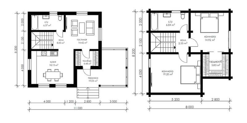 Планировка комнат на этажах