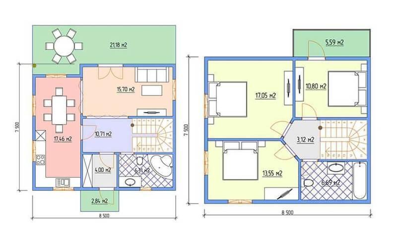 Планы этажей в проекте Бердск