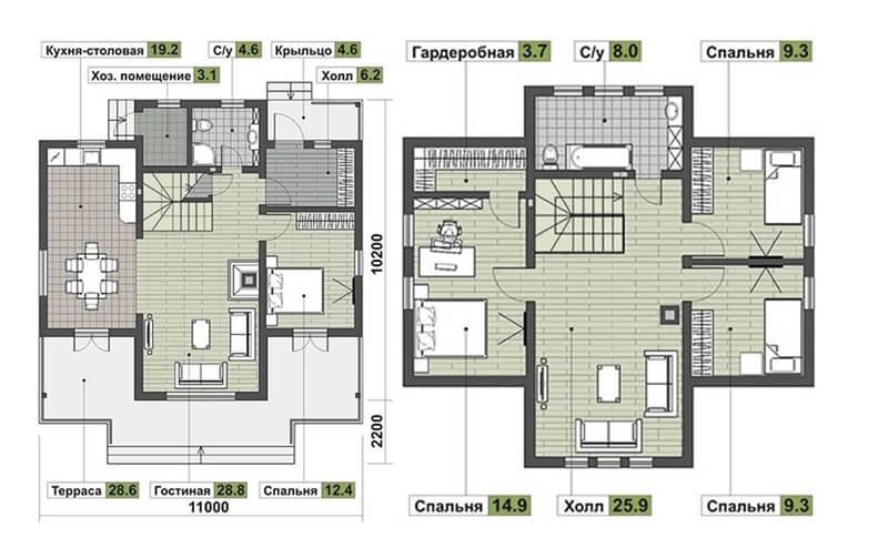 Поэтажная планировка