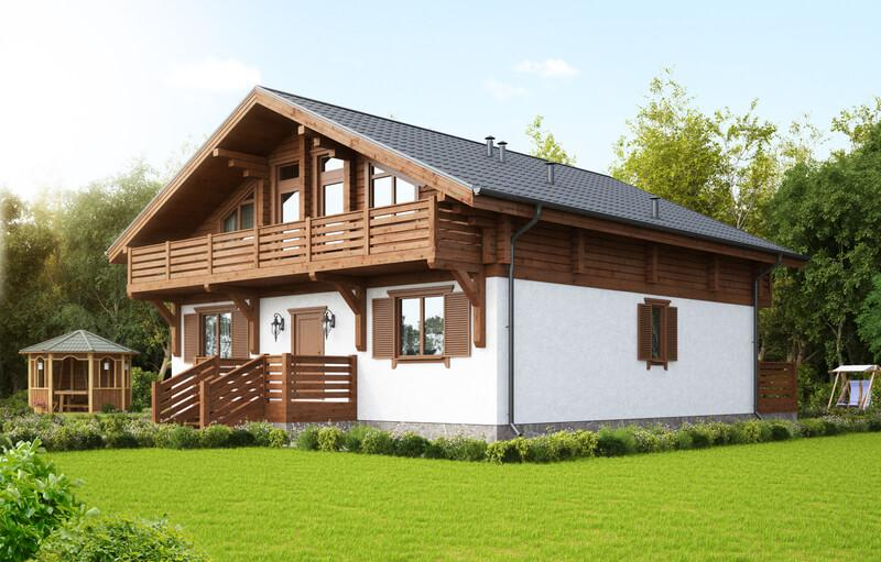 Проект комбинированного дома Слободской