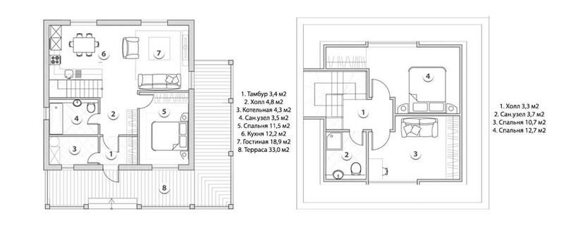 Планировка на этажах