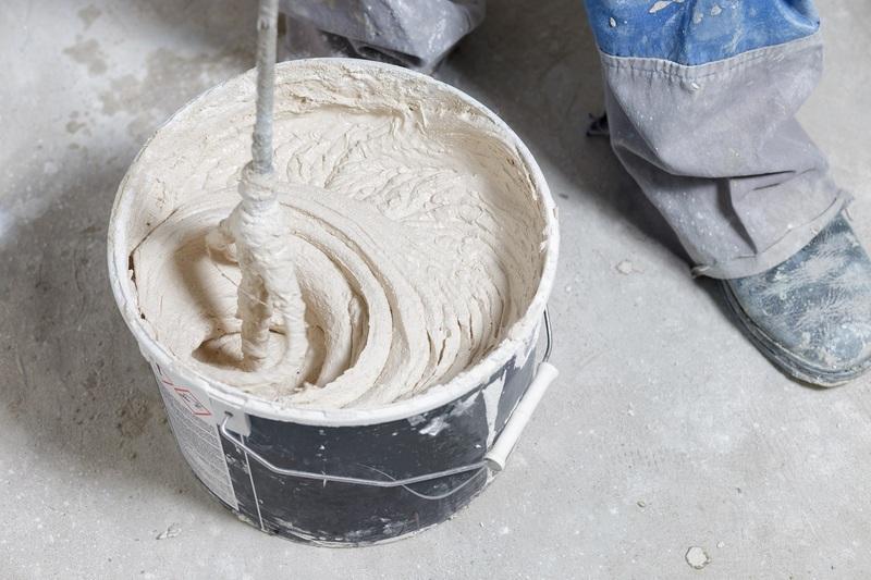 Процесс затворения сухой шпаклёвки