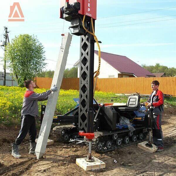 Сборный железобетон: подготовка сваевдавливающей машины к работе