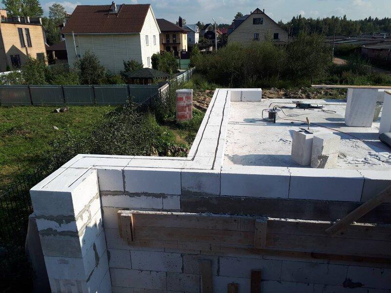 Наружные стены из газоблоков