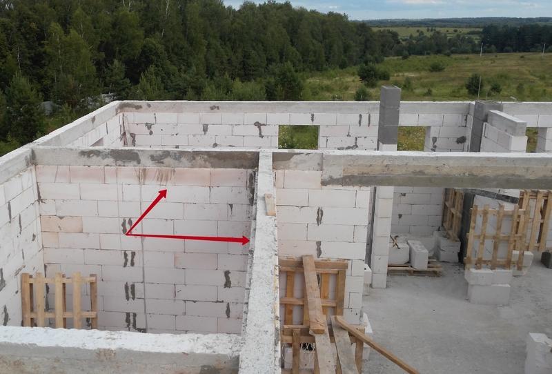 Перегородки из блоков d500 100х250х625 мм