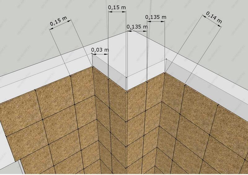 Укладка плитки на газоблок – пример грамотной раскладки