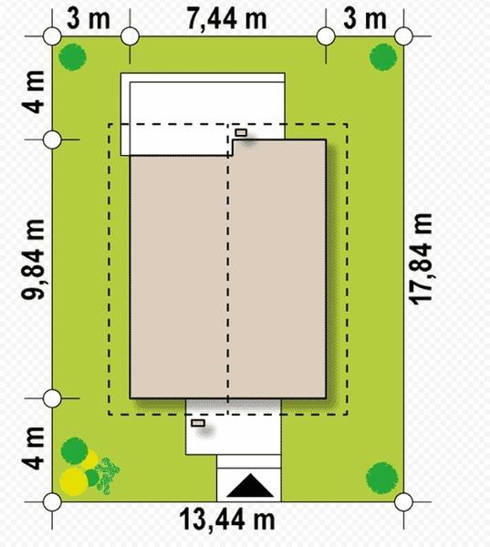Принцип определения минимального размера пятна застройки
