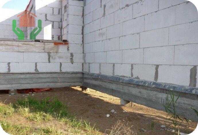 Газобетонные стены на свайном фундаменте
