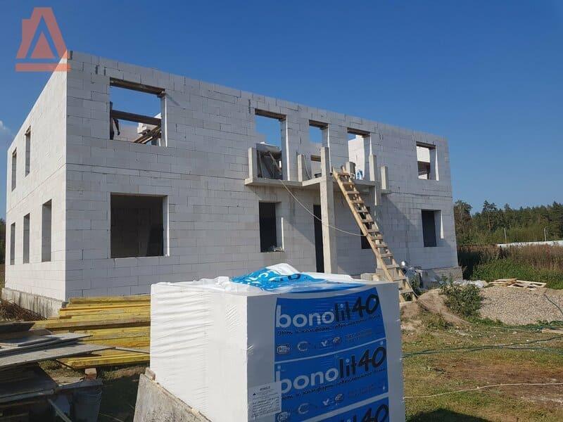 проект двухэтажного дома с террасой из газобетона