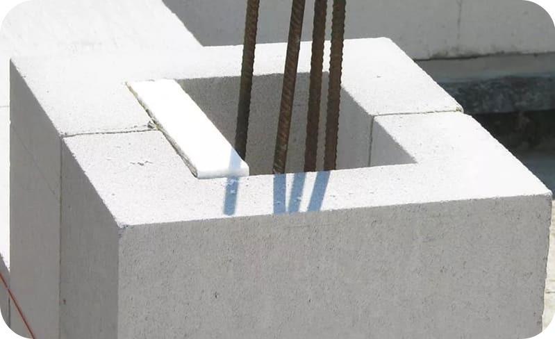 Принцип формирования газобетонной колонны