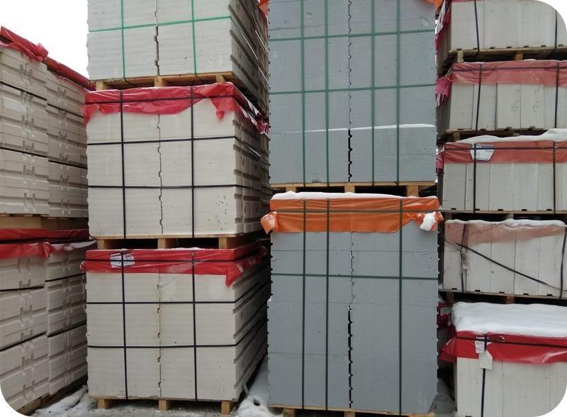 Автоклавные блоки могут быть белыми и серыми