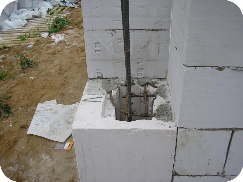 Как правильно армировать газобетонную кладку арматурой