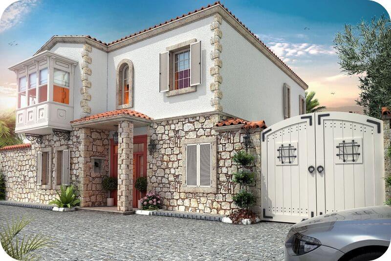Турецкий дом с мансардой