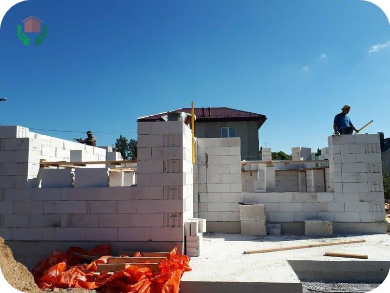 Строительство дома из автоклавных газоблоков