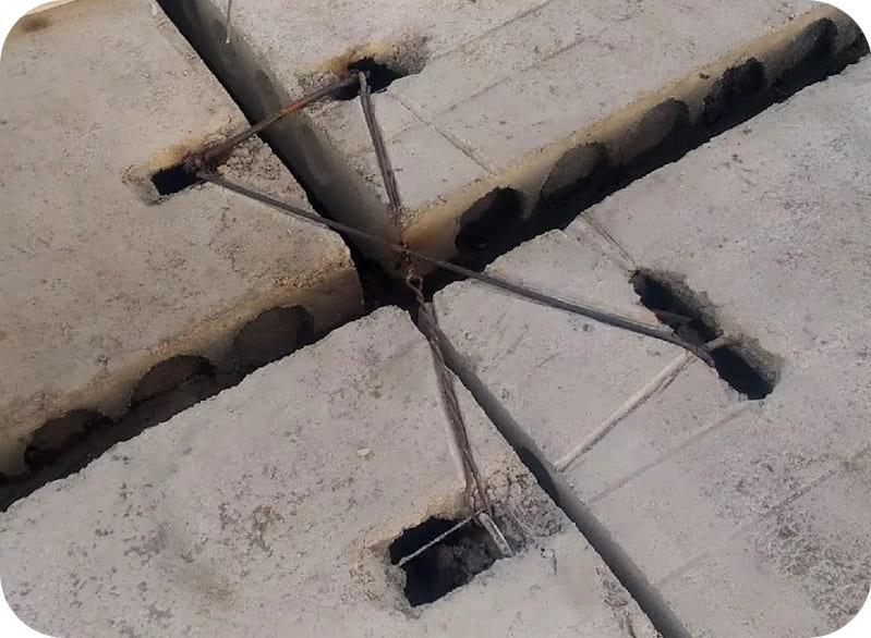 Опирание плит перекрытия на стену из газоблока и принцип их анкеровки