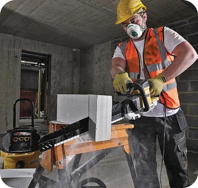 Чем пилить газобетонные блоки – профессиональный инструмент