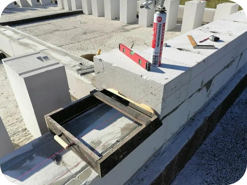 Пример самодельной каретки для нанесения клея на газобетонные блоки