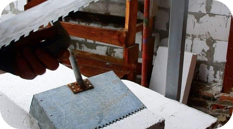 Ковш для укладки газобетона из оцинкованного листа