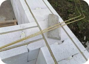 Армирование дома из газобетона арматурой из стеклопластика