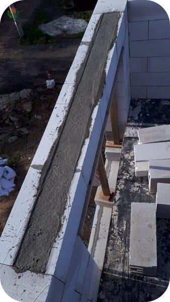 Замоноличивание внутреннего пространства лотка бетоном