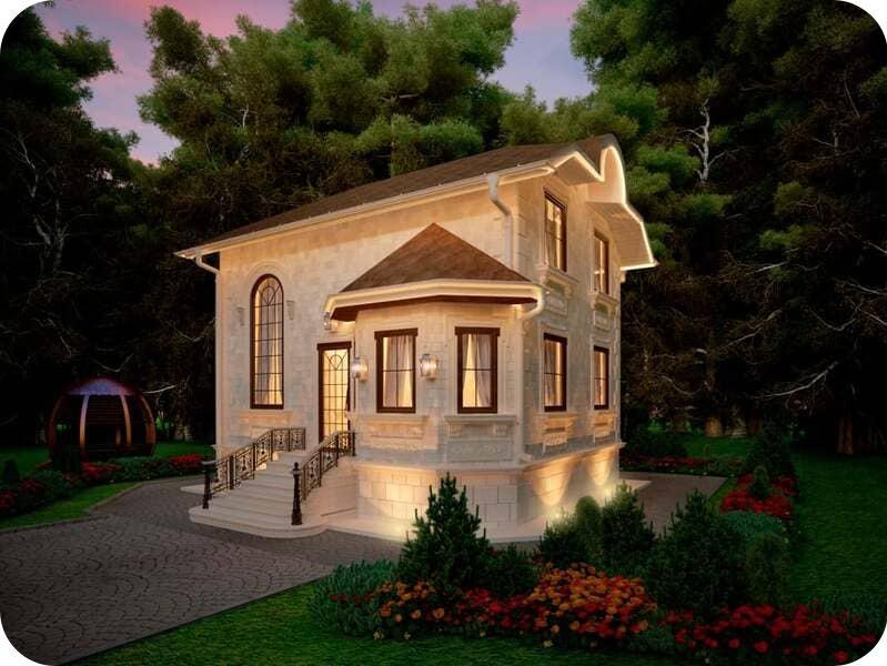 Вот как может выглядеть маленький домик из газобетона