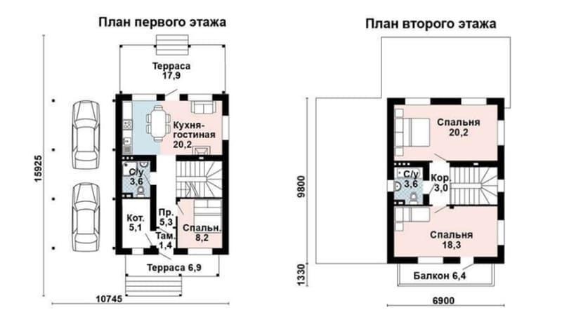 Проекты домов из газоблоков до 100 кв м