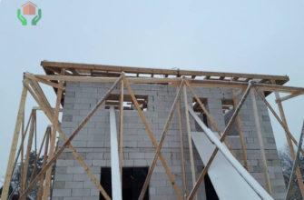 Строящийся дом 10 на 12 из газобетона