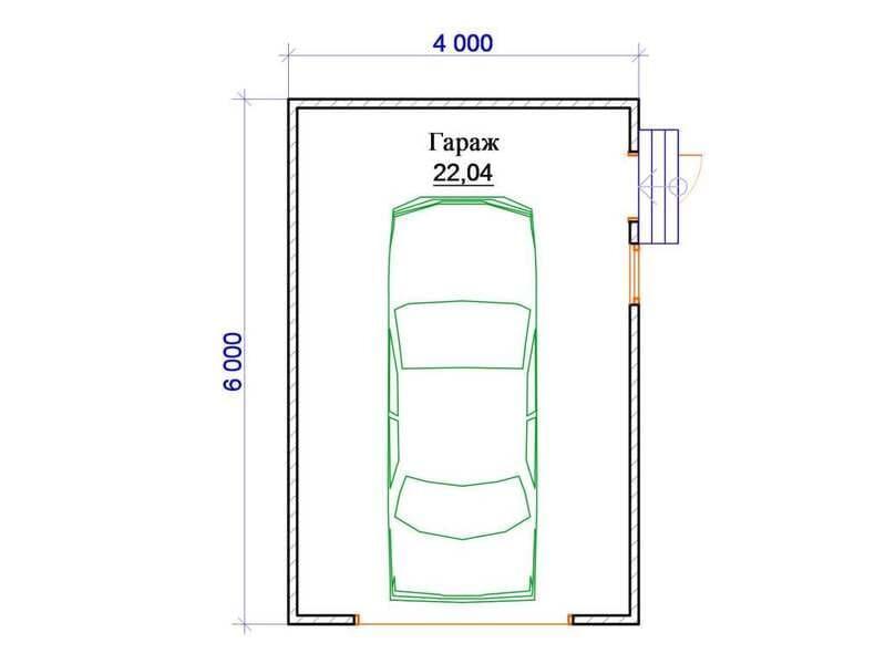 Гараж 6 на 4 – идеальный размер для одного автомобиля