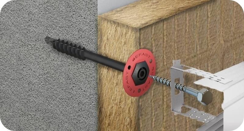 Фасадный анкер типа ГБ используется при установки вентилируемого фасада