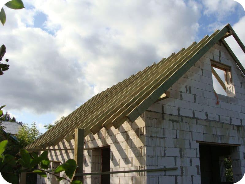 Каркас двухскатной крыши