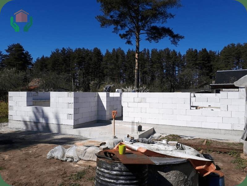 Стены из газобетона толщиной 400 мм