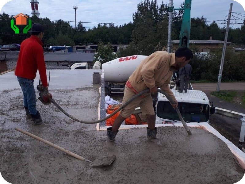 Уплотнение бетона пневмовибратором