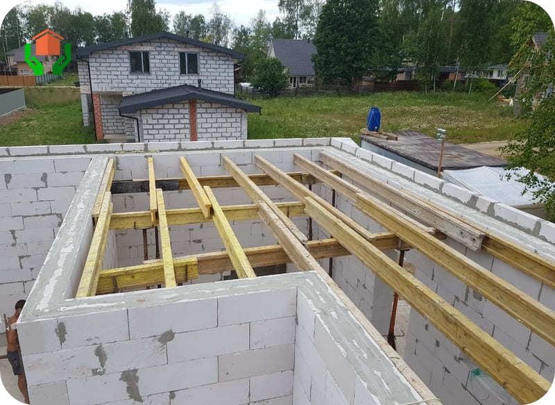 Межэтажное перекрытие из деревянных балок