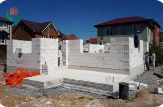 Строящийся газоблочный дом