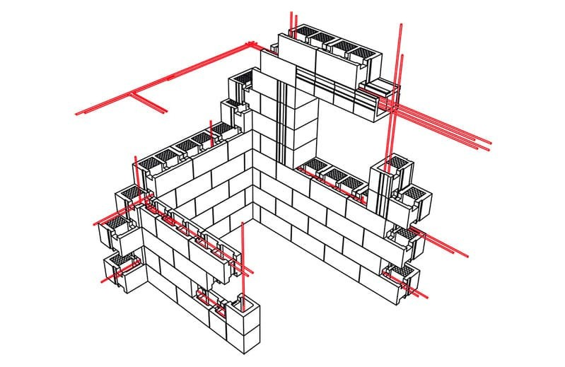 Принцип вертикального усиления кладки