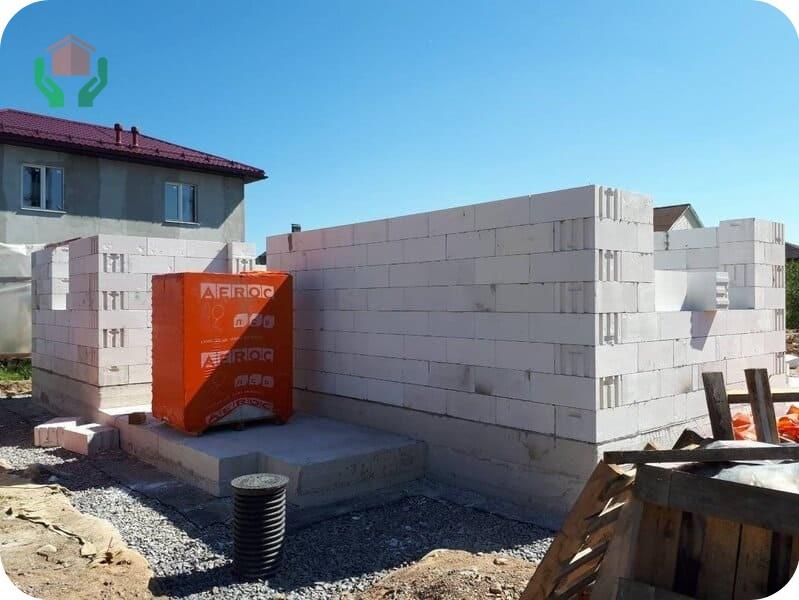 Строительство дома из блоков АЭРОК